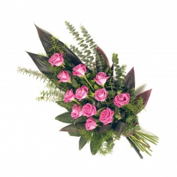 Poza Buchet funerar din trandafiri